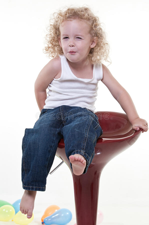Cute young blond toddler jewish boy royalty free stock images