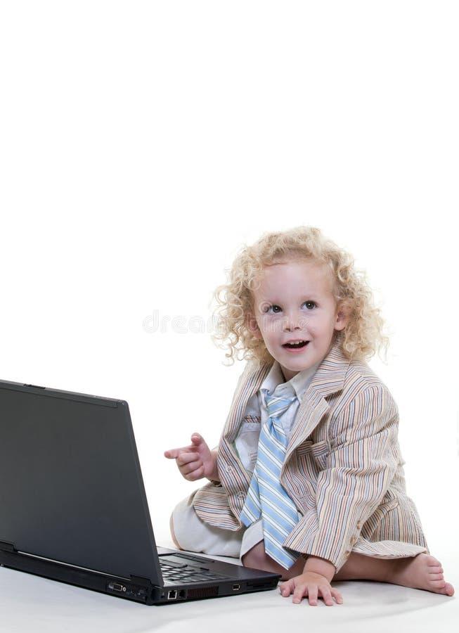 Cute young blond toddler jewish boy stock photos
