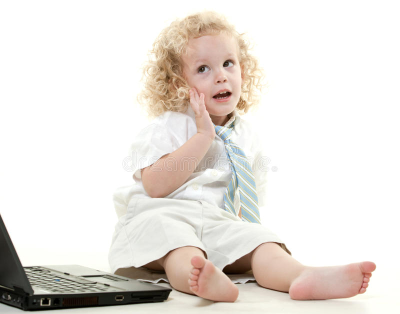 Cute young blond toddler jewish boy stock images