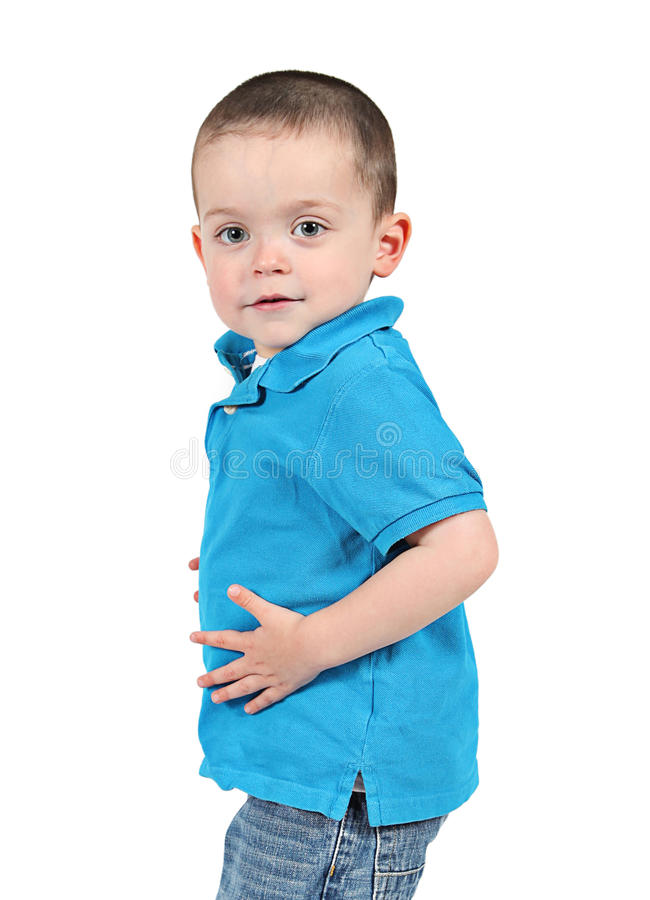 Cute young boy stock photo