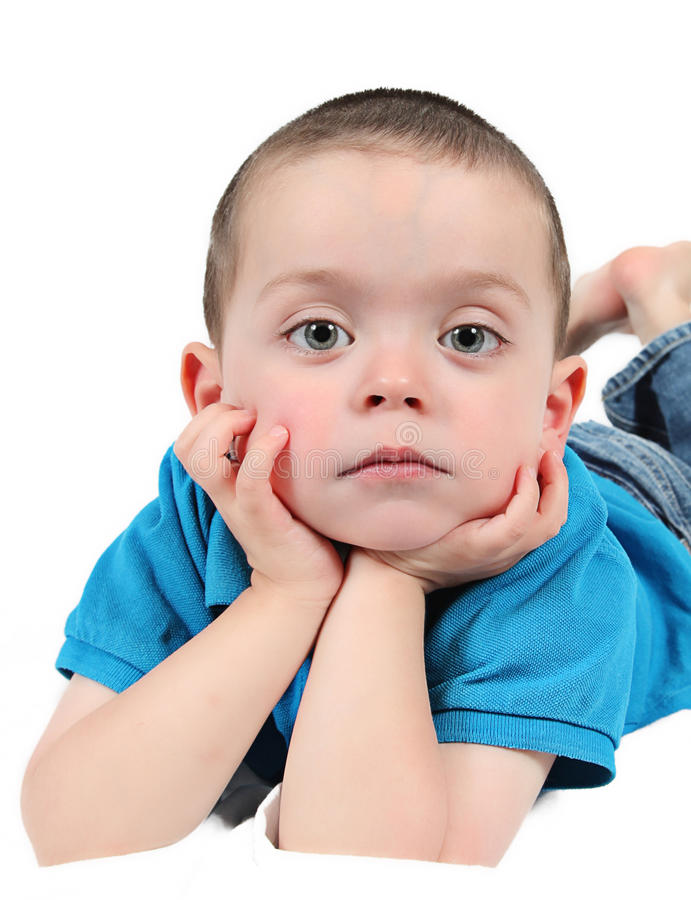 Cute young boy royalty free stock photos