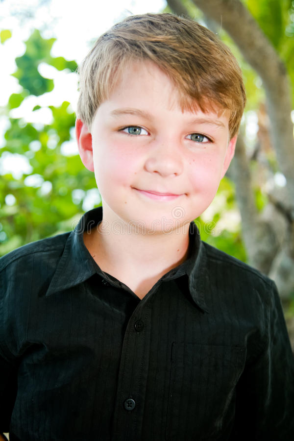 Cute Young Boy royalty free stock photography