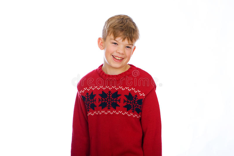 Download Cute young boy stock image. Image of holiday, sweater - 21979765