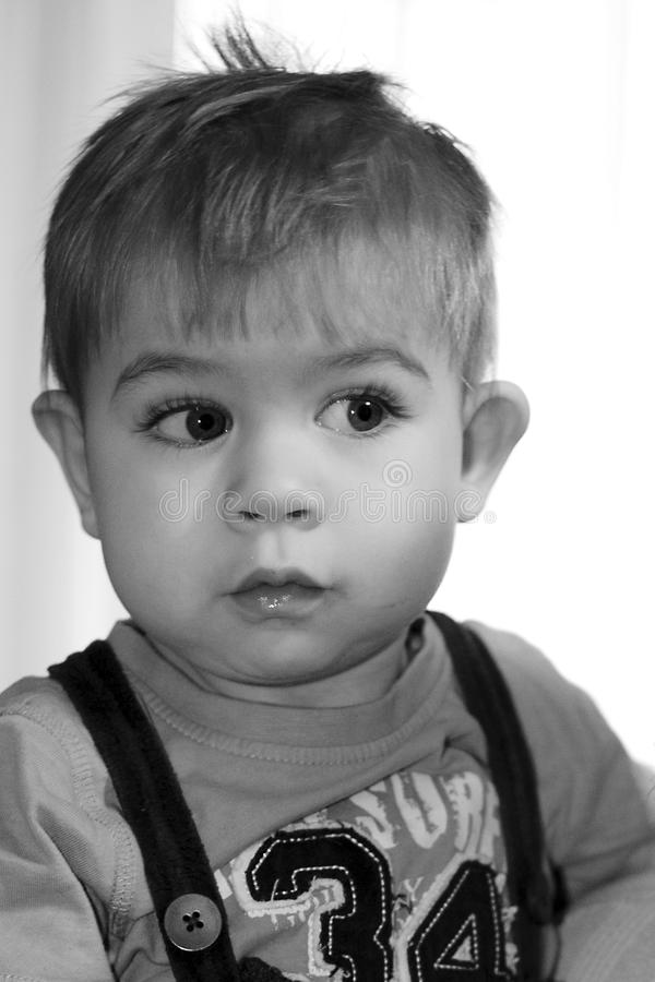 Download Cute Young Boy stock image. Image of cute, black, eyes - 28482401