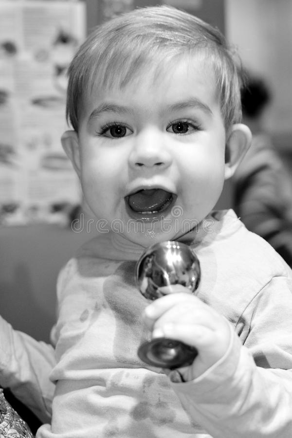 Download Cute Young Boy Holding A Cup Stock Photo - Image: 28482496
