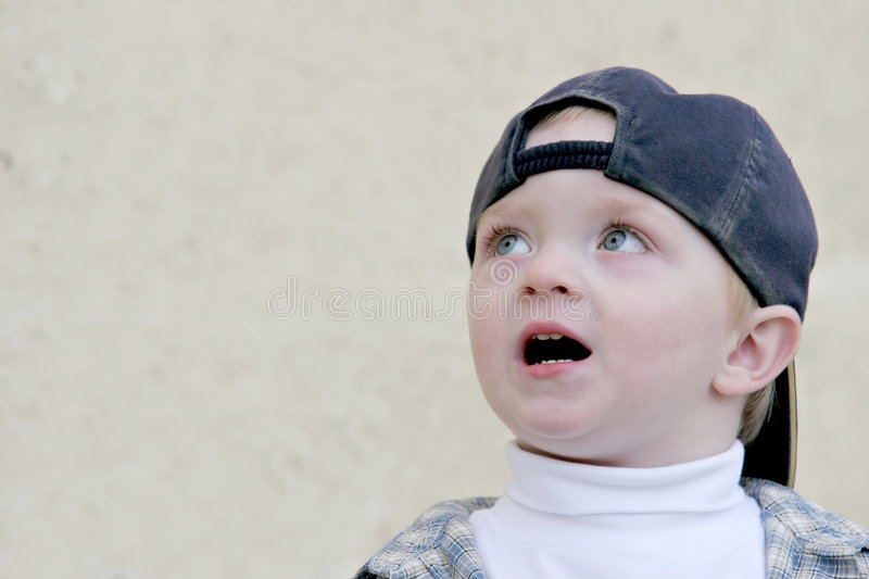 Download Cute young boy - uh oh stock photo. Image of worried, scared - 324260