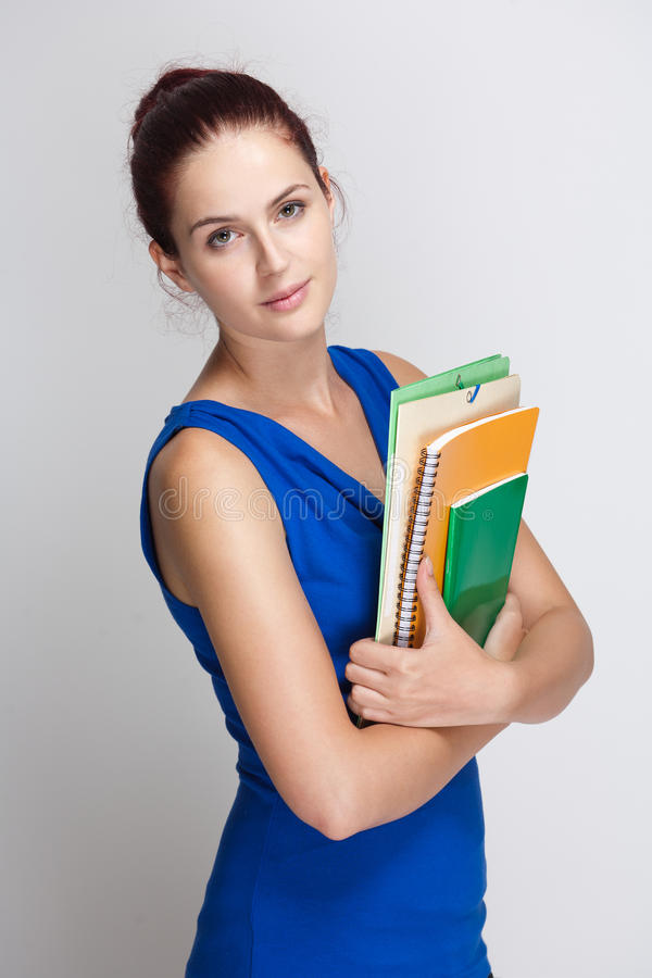Cute Young Brunette Student. Stock Images