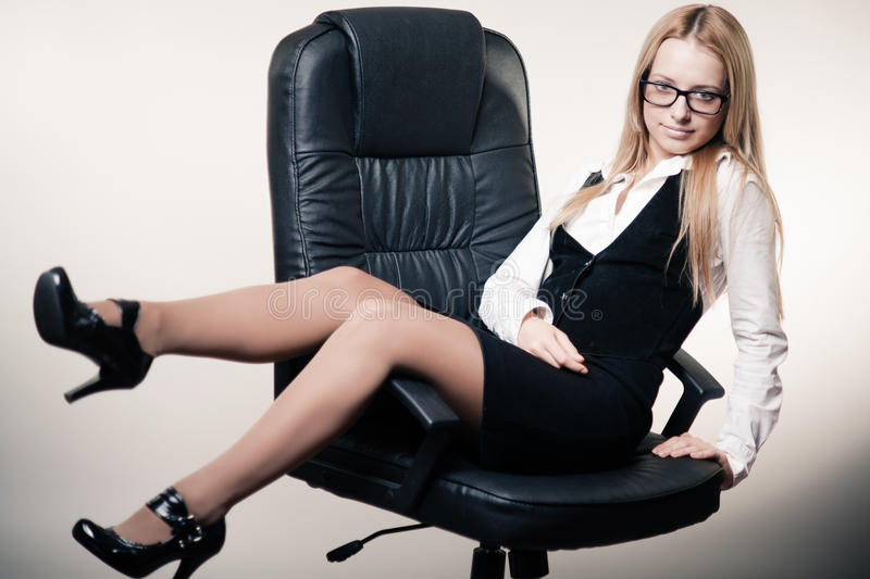 Cute Young Business Lady Royalty Free Stock Photos