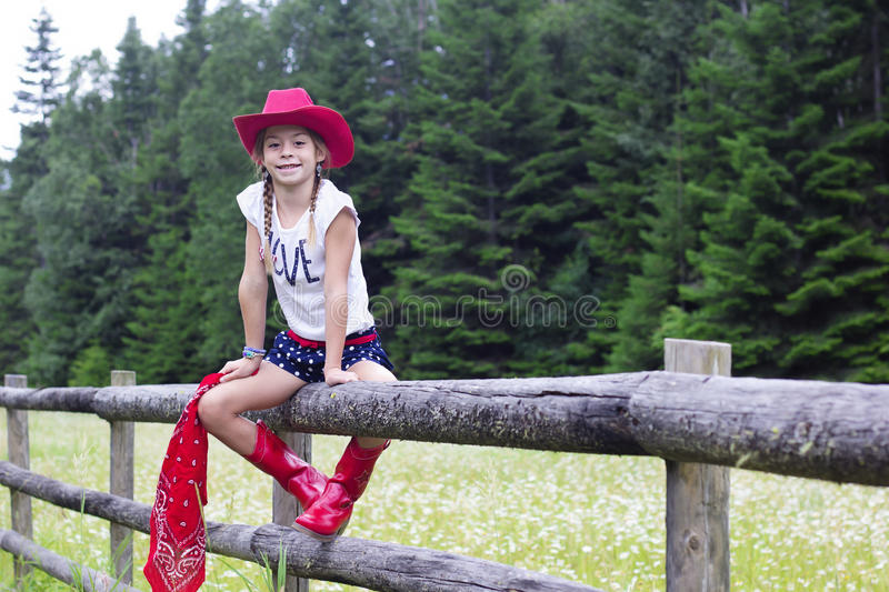 Download Cute Young Cowgirl Portrait Stock Photo - Image: 42843651