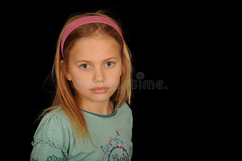 Cute young girl portrait royalty free stock photo