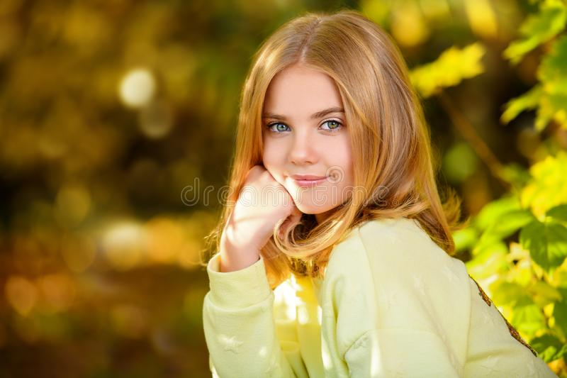 Cute young girl royalty free stock image
