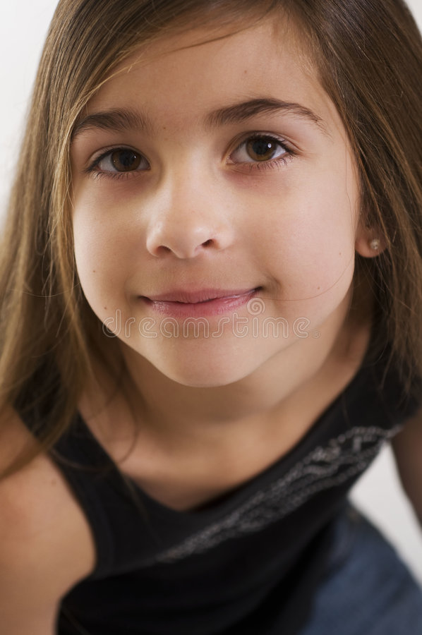 Download Cute young girls face stock image. Image of youngster - 7656669
