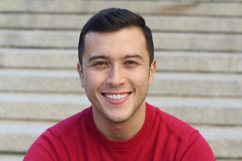 Cute young man with a stunning smile.  stock image