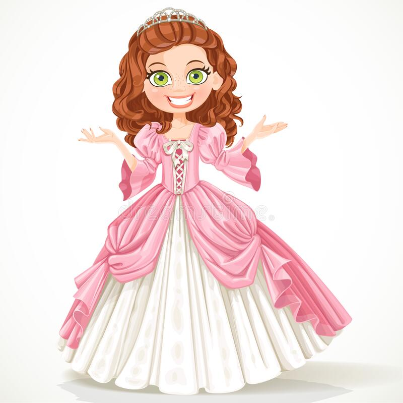 Princess Brown Hair Stock Illustrations 419 Princess Brown Hair