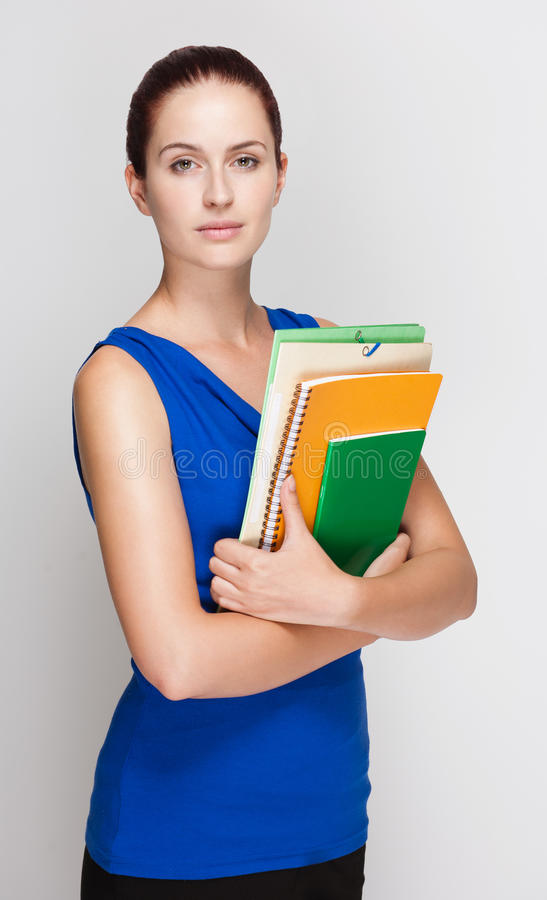 Download Cute Young Redhead Student. Stock Photo - Image: 33337916