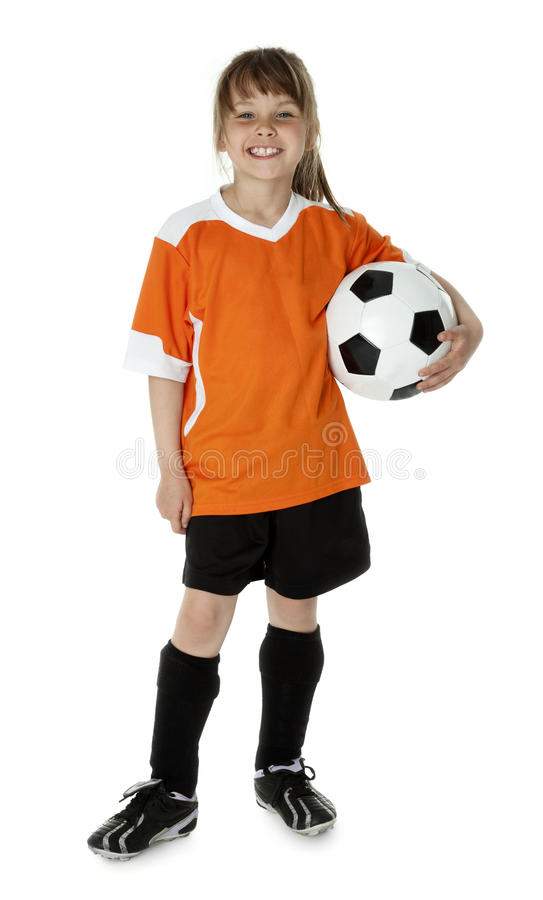 Cute Young Soccer Player royalty free stock photo