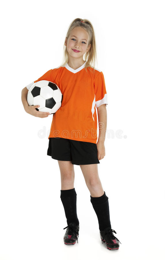 Cute Young Soccer Player stock photography
