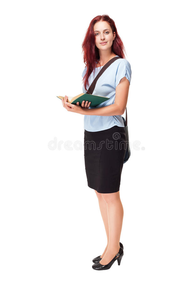 Download Cute young student woman. stock image. Image of person - 33337913
