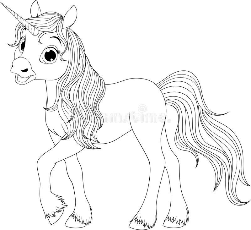 Cute young unicorn royalty free illustration