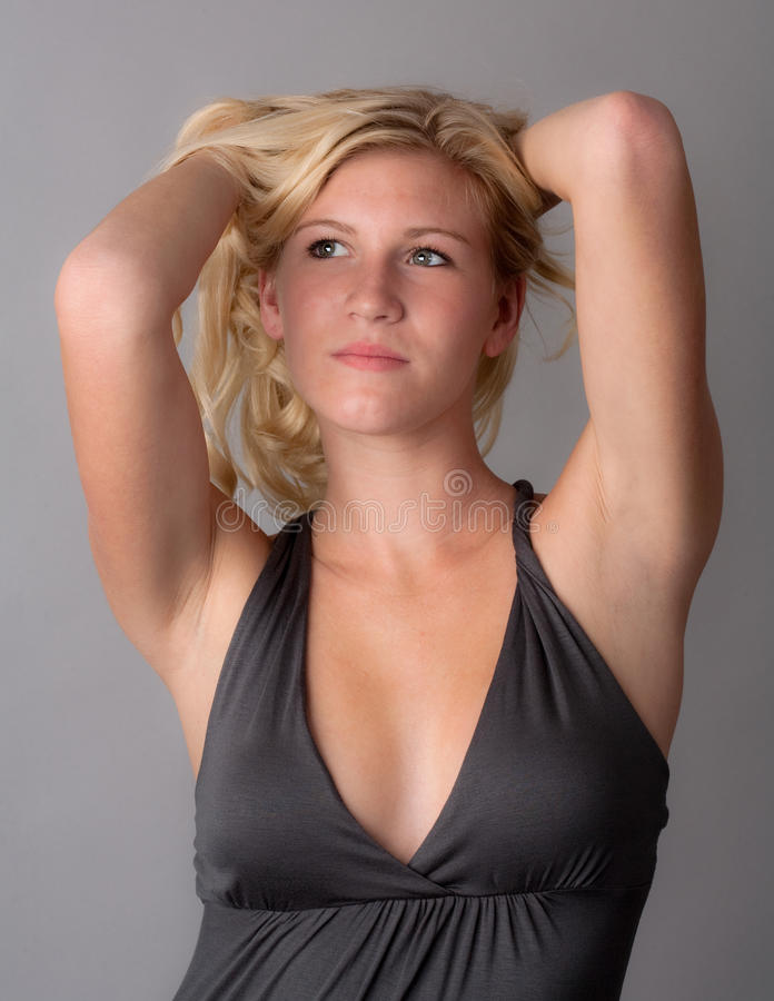 Cute Young Woman With Blond Hair stock image