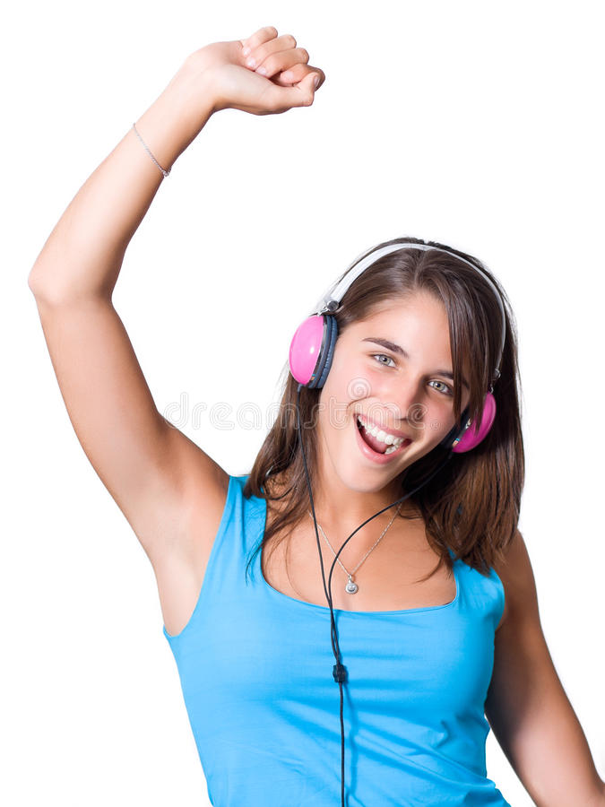 Download Cute Young Woman With Headphones Royalty Free Stock Photo - Image: 20908985