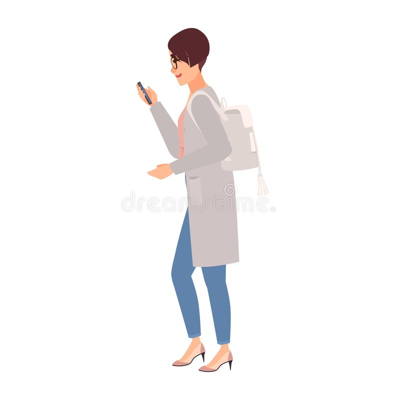 d71b8b8d47 Cute young woman wearing casual clothing