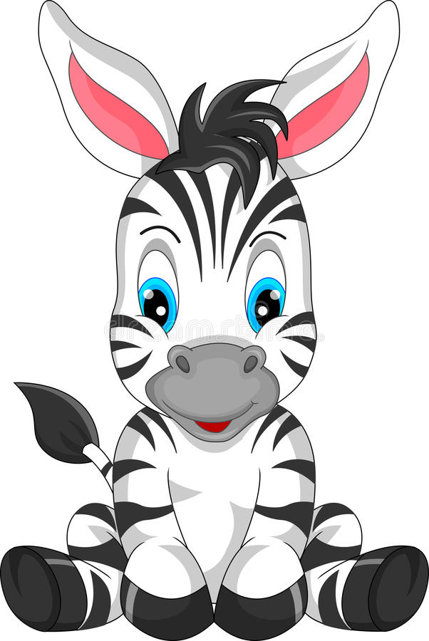 Free Cute Zebra Cartoon Royalty Free Stock Images - 47136019