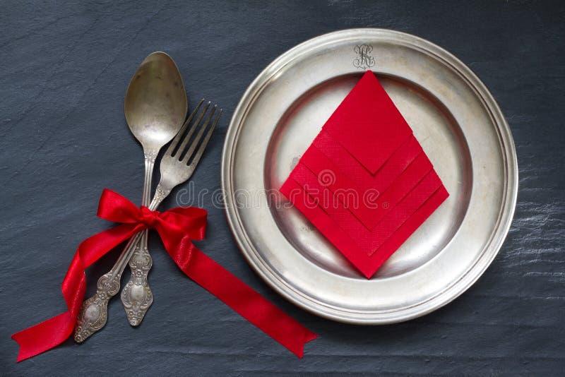Cutelaria do Natal no fundo do alimento do sumário da tabela fotografia de stock