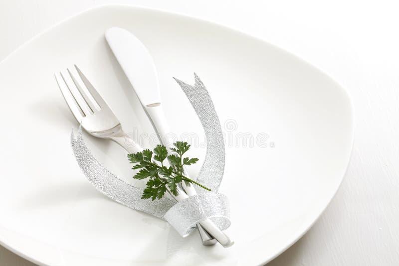 Cutelaria, Fita Fotografia de Stock Royalty Free