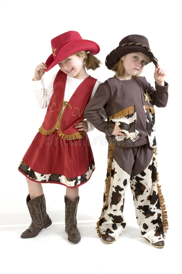 Cutest little cowgirls royalty free stock photos