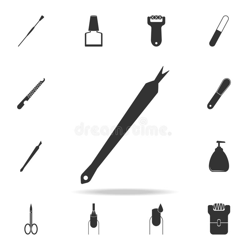 Cuticle removal tool icon. Detailed set of Beauty salon icons. Premium quality graphic design icon. One of the collection icons fo. R websites, web design royalty free stock photos