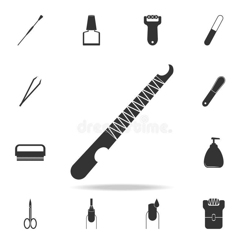 Cuticle removal tool icon. Detailed set of Beauty salon icons. Premium quality graphic design icon. One of the collection icons fo. R websites, web design royalty free stock image