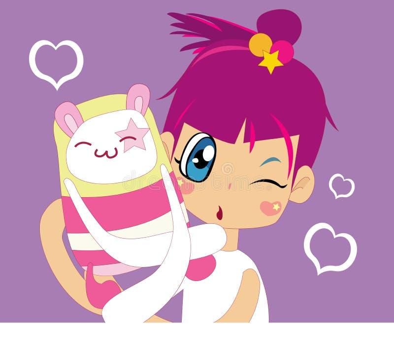 Download Cutie girl stock illustration. Illustration of wear, teen - 2120129