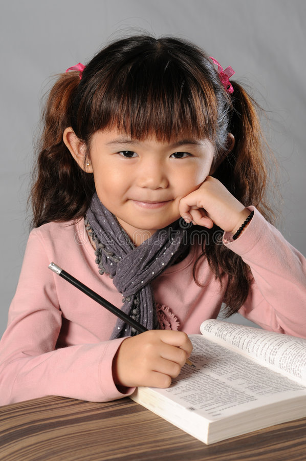 Download Cutie girl stock image. Image of little, girl, cute, studying - 6969971