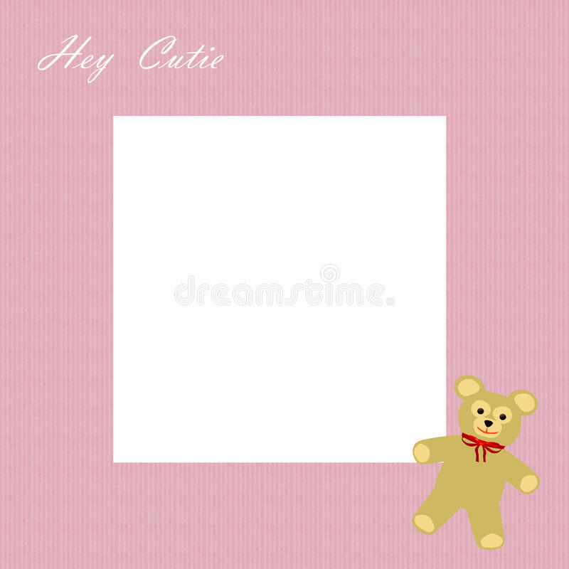 Free Cutie Girl Scrapbook Frame Stock Photo - 11446790