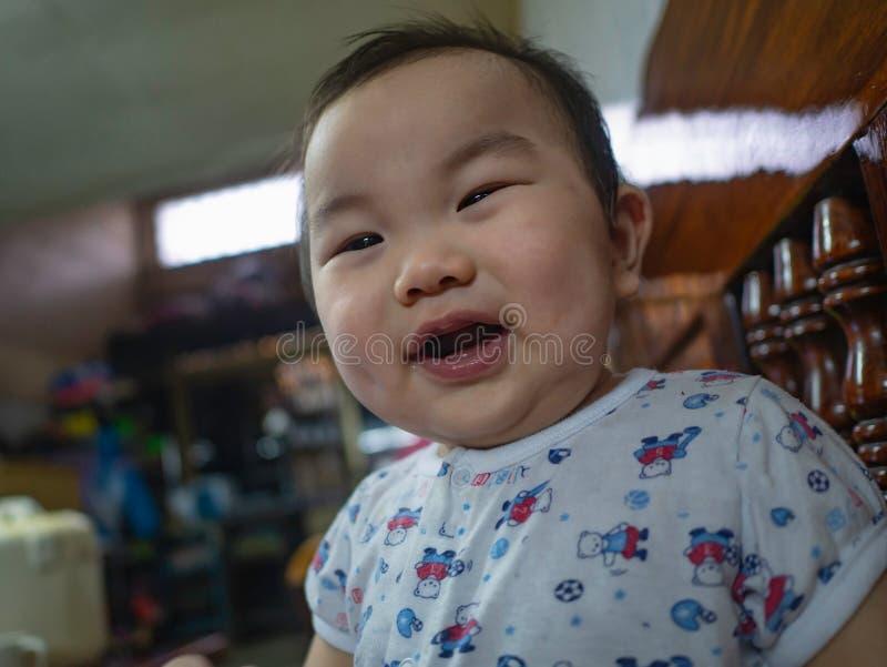 Cutie och fet asiatisk pojke royaltyfri bild