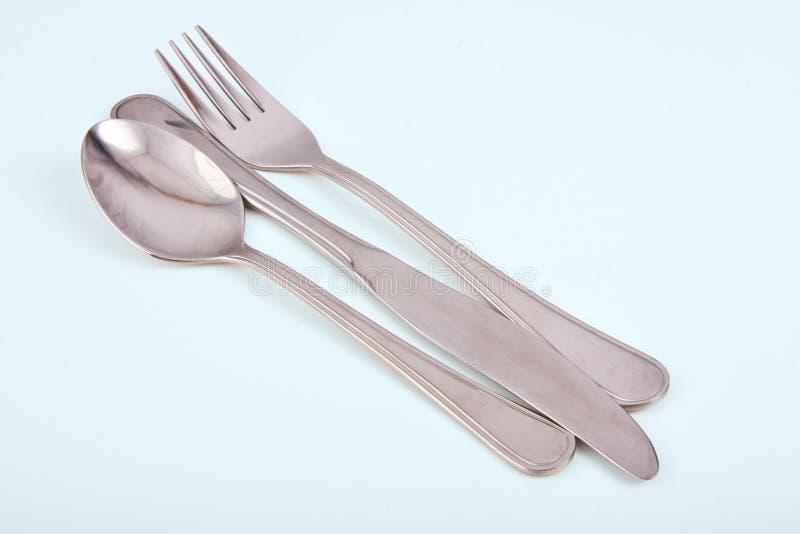 Cutlery в рядке стоковые фото