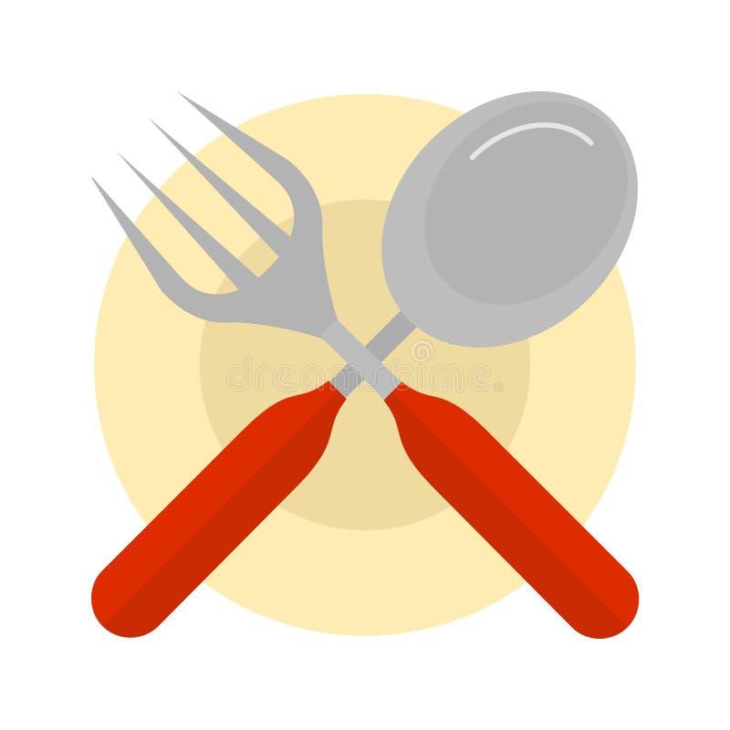 Cutlery и плита бесплатная иллюстрация