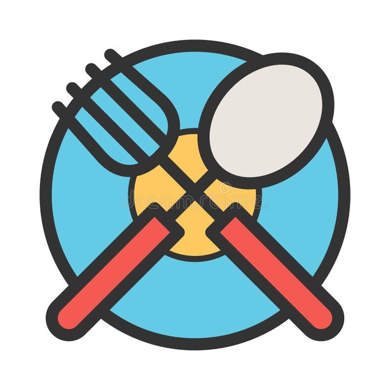 Cutlery и плита иллюстрация штока