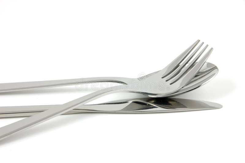 Cutlery. In isolated white background royalty free stock image
