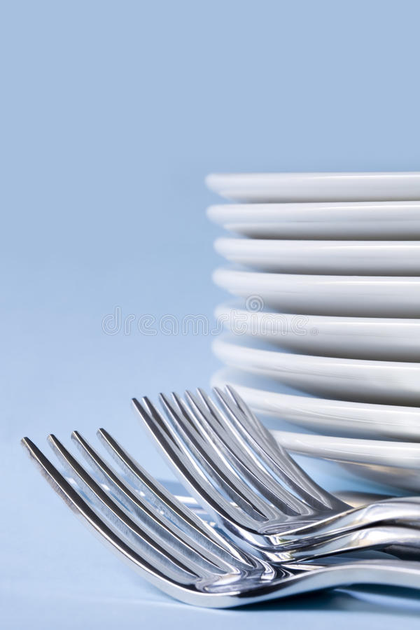 Download Cutlery and Dinner Plates stock photo. Image of photograph - 14860886