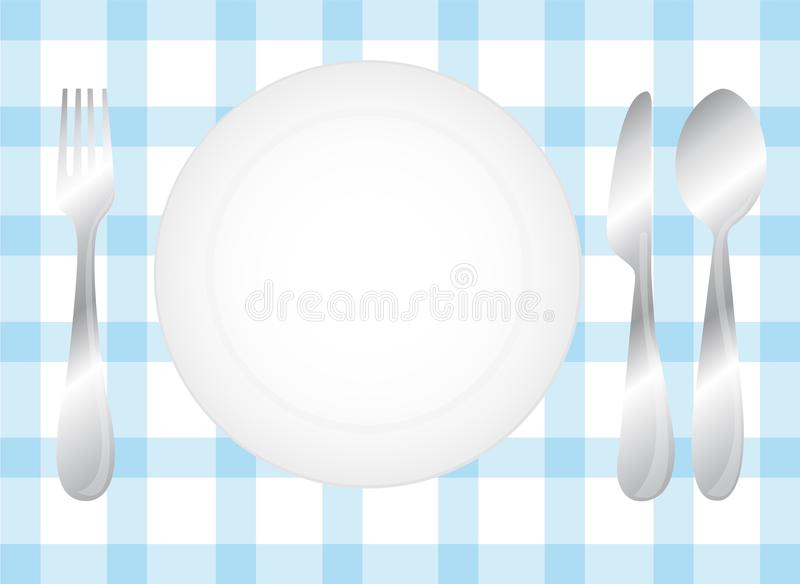 Cutlery And Dish Stock Photo