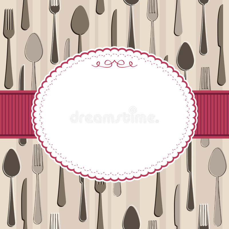 Download Cutlery frame stock vector. Image of fork, pattern, concept - 21619435