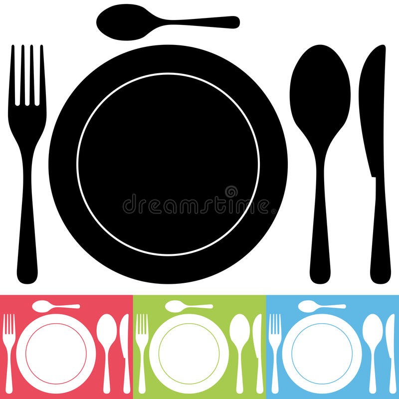 Cutlery i talerza ikony