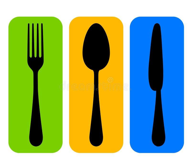 Cutlery ikona ilustracji
