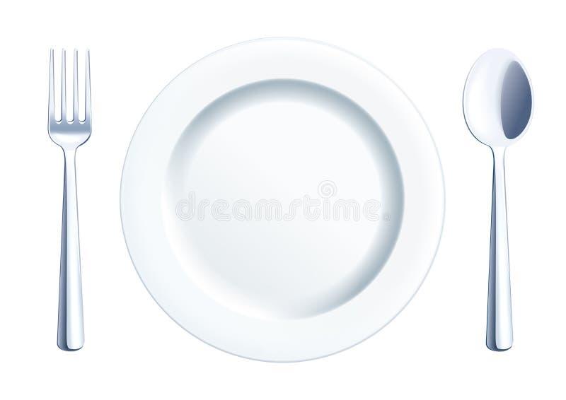 Cutlery jasnego set ilustracja wektor
