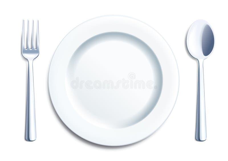 Cutlery jasnego set royalty ilustracja