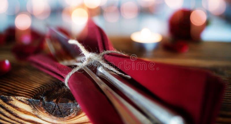 Cutlery na starym drewnie obrazy stock