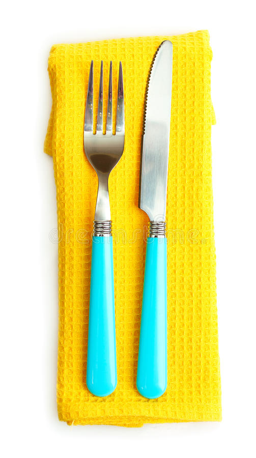 Download Cutlery and napkin stock photo. Image of plastic, knife - 20120452