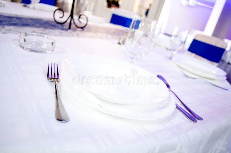 Cutlery, napkins. On a wedding stock photos